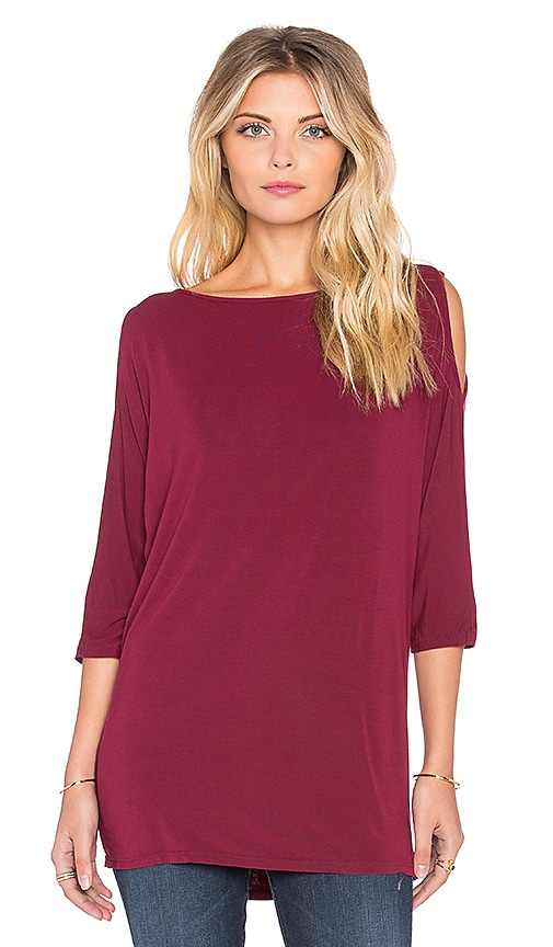 3/4 Sleeve Cold Shoulder Tunic