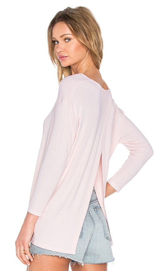 Michael Stars Crossover Back Top in Blush