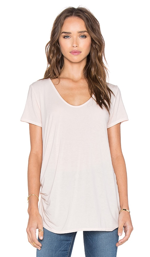 Michael Stars Short Sleeve V Neck Tee in Pink