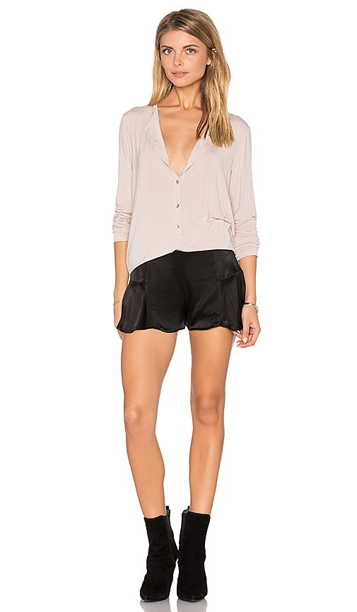 Michael Stars Tunic Henley in Blush
