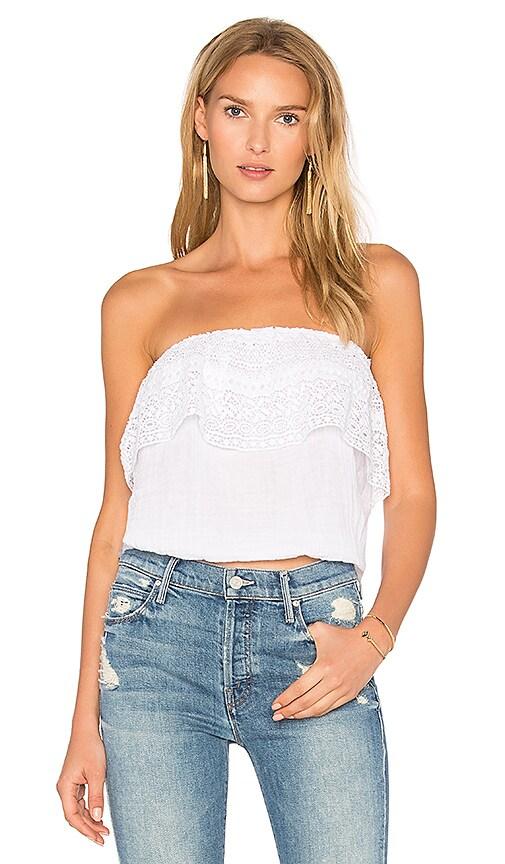 Michael Stars Blouson Lace Top in White