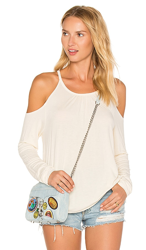 Michael Stars Cold Shoulder Top in Cream