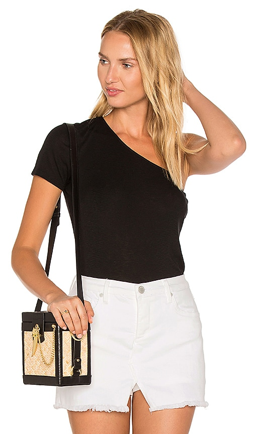 Michael Stars One Shoulder Tee in Black