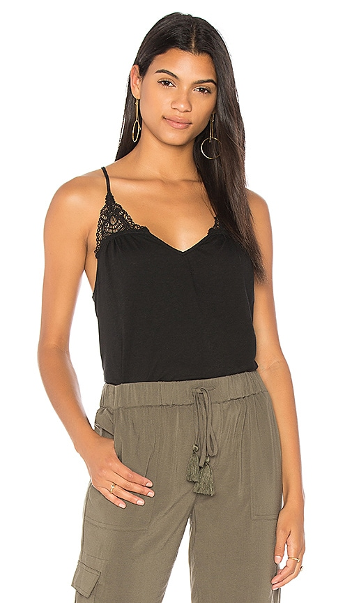 Michael Stars Luxe Crochet Cami in Black