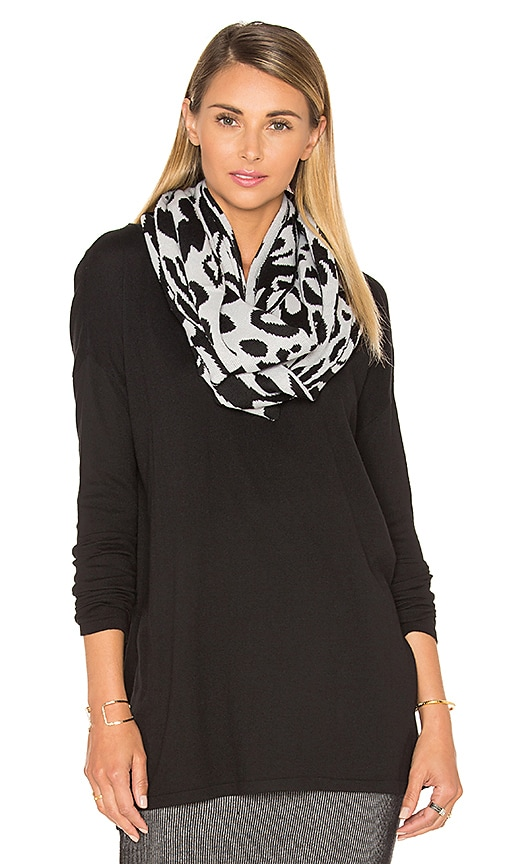 Michael Stars Big Cat Eternity Scarf in Black