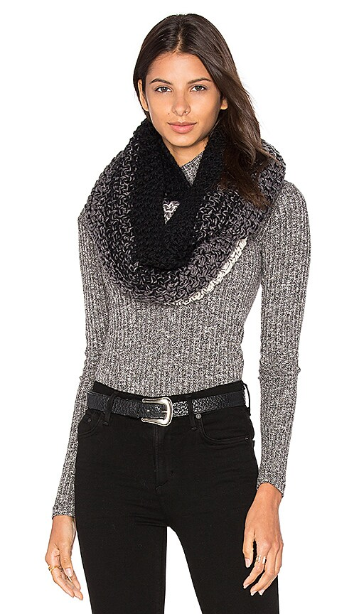 Michael Stars Seeded Ombre Eternity Scarf in Black