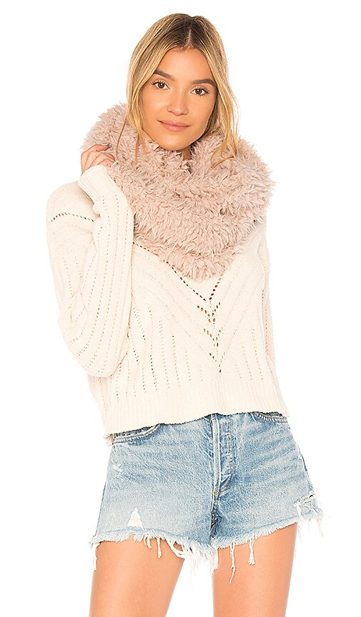 Michael Stars For Sherpa Eternity Scarf in Blush