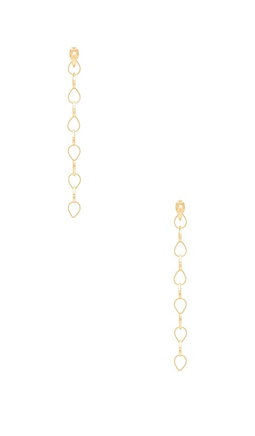 Michelle Campbell Teardrop Chain Ear Jacket in Metallic Gold