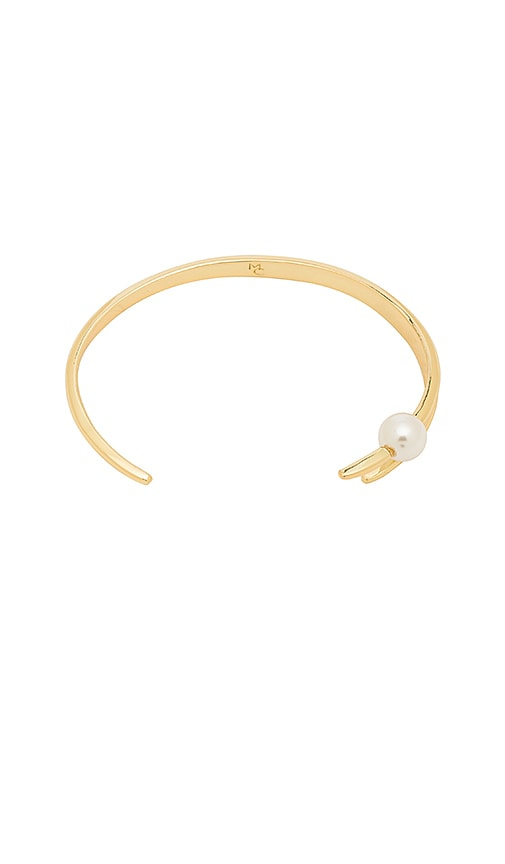 Michelle Campbell Talon Pearl Cuff in Metallic Gold