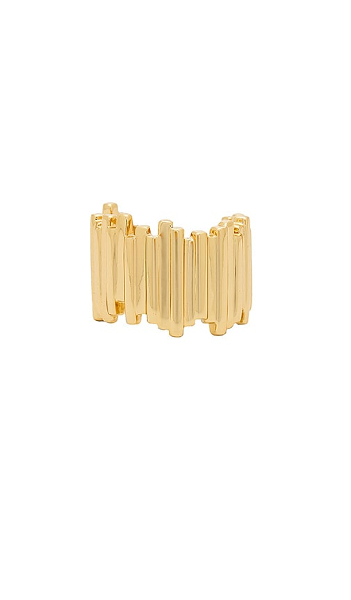 Michelle Campbell Raft Cuff Ring in Metallic Gold