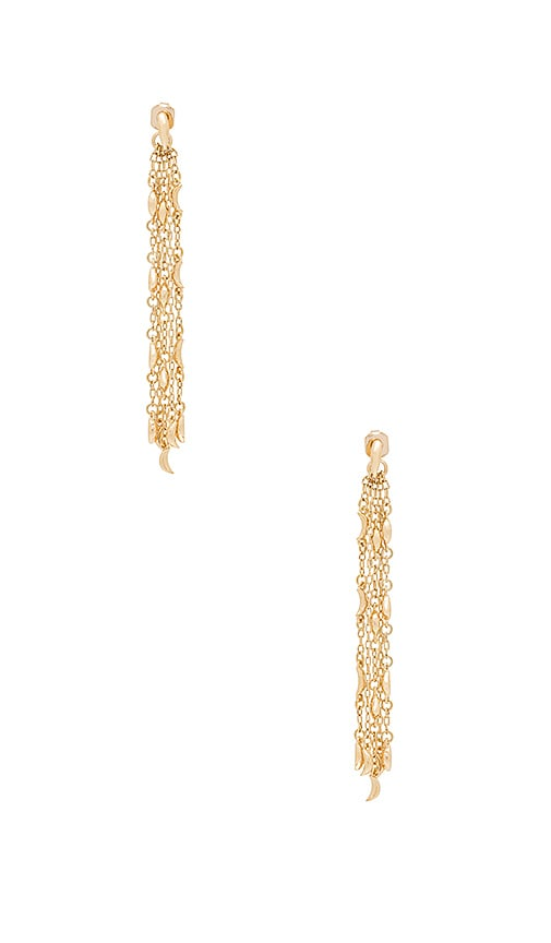 Michelle Campbell Dripping Moon Dangle Earrings in Metallic Gold