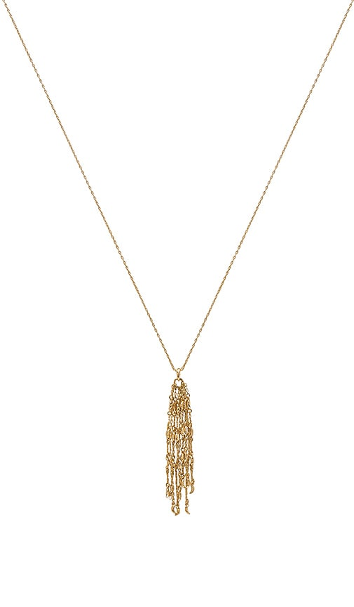 Michelle Campbell Dripping Moon Pendant Necklace in Metallic Gold