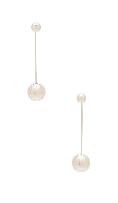 Michelle Campbell Moon Orbit Statement Earrings in Metallic Silver