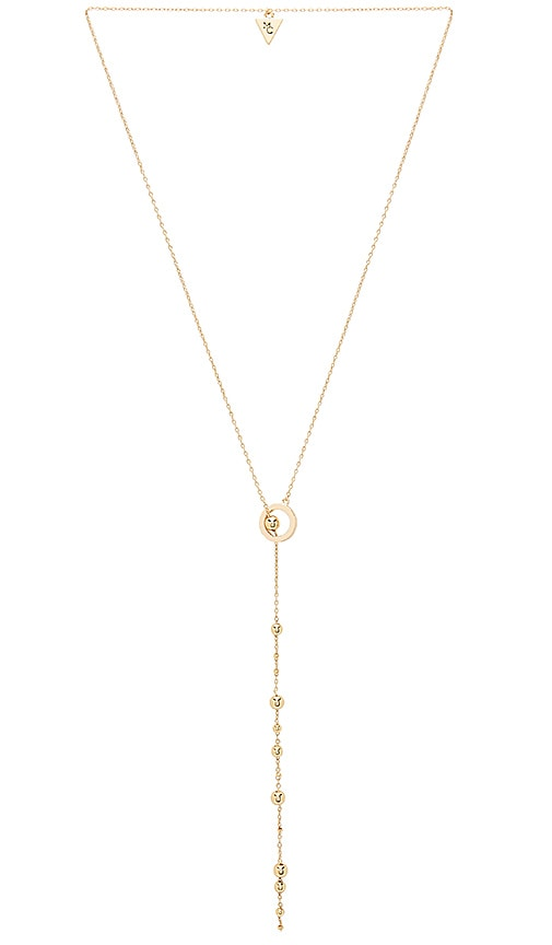 Michelle Campbell Orbit Lariat Necklace in Metallic Gold