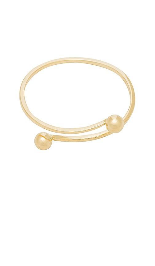 Michelle Campbell Orbit Bangle Bracelet in Metallic Gold