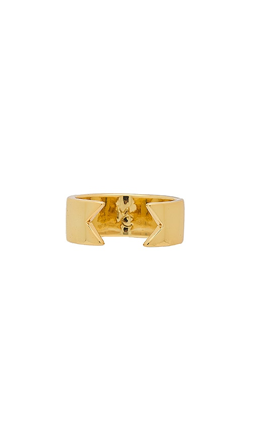Michelle Campbell Filled Invert Ring in Metallic Gold