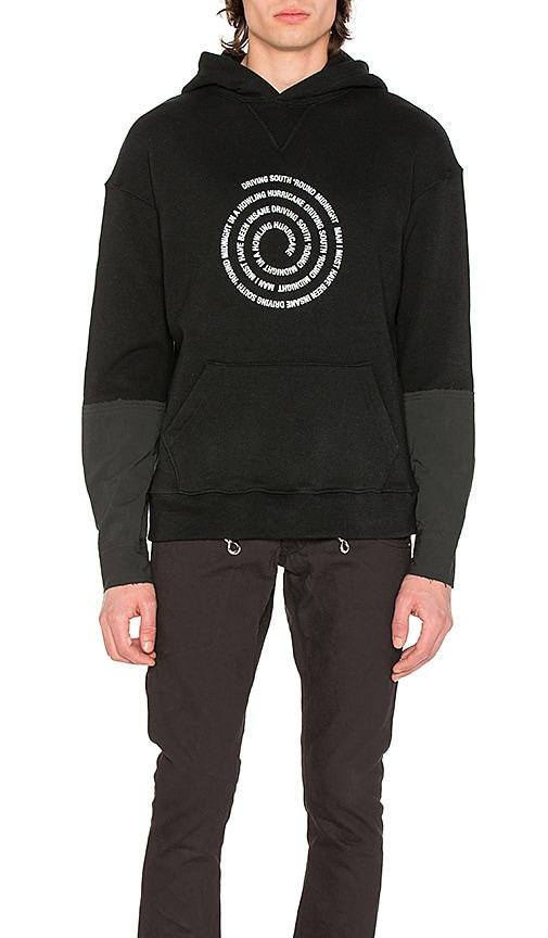Midnight Studios Hurricane Hooded Sweatshirt in Black & White