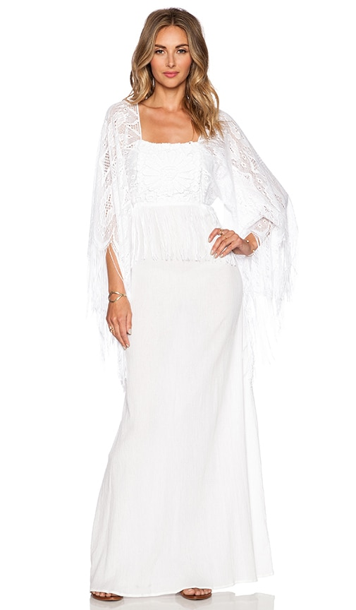 Miguelina Chelsea Maxi Dress in Pure White