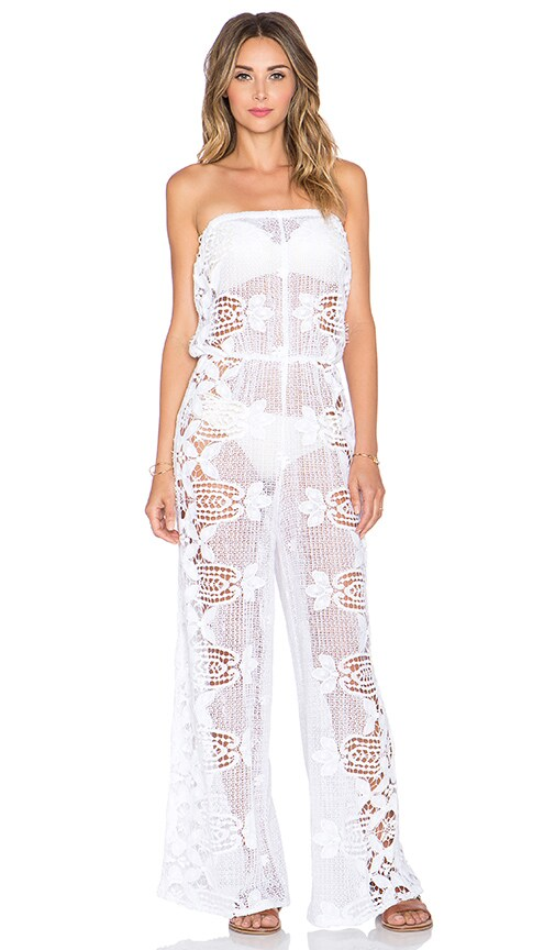 17d86531aebc Miguelina Piper Jumpsuit in Pure White