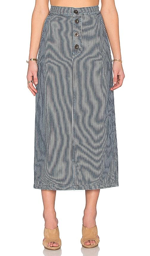 M.i.h Jeans Malo Skirt in Indigo Stripe