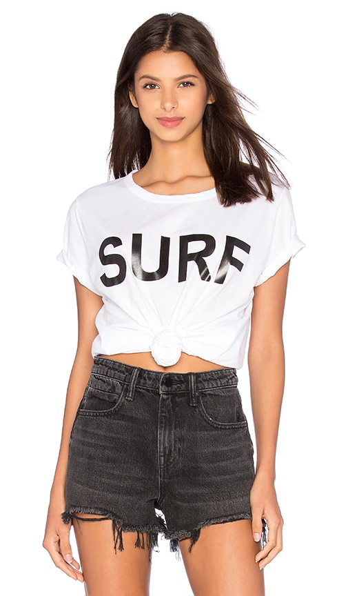 MIKOH Surf Graphic Crew Neck Tee in White