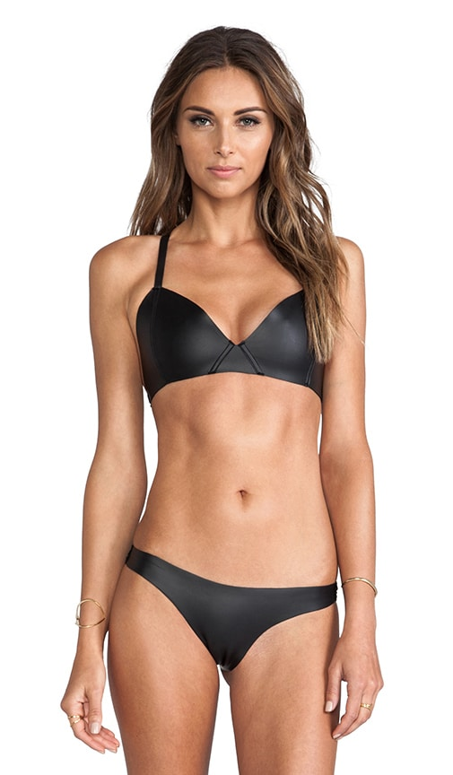 Swimwear Sporty Bra Top with Basic Skimpy Bottom