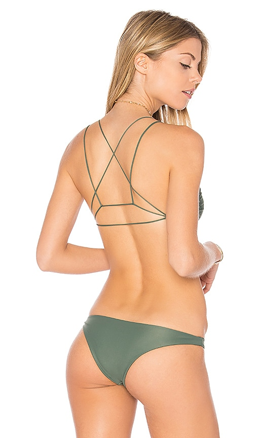 MIKOH Alapio Scoop Top in Green