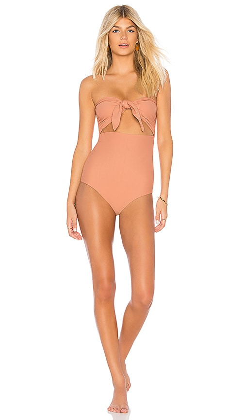 d4725bd025ac6 MIKOH Lana One Piece in Honey | REVOLVE