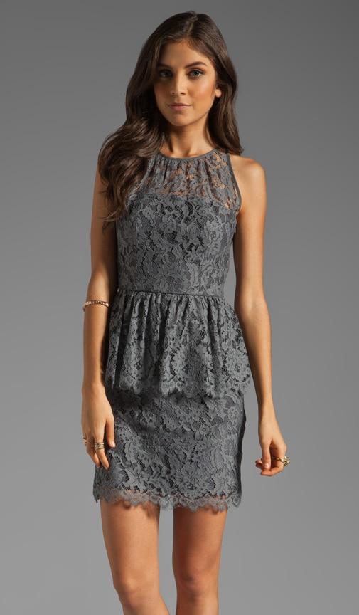Floral Scallop Lace Liza Peplum Dress