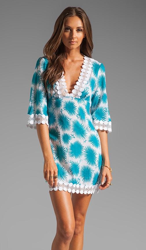 Aster Print Polynesian Dress