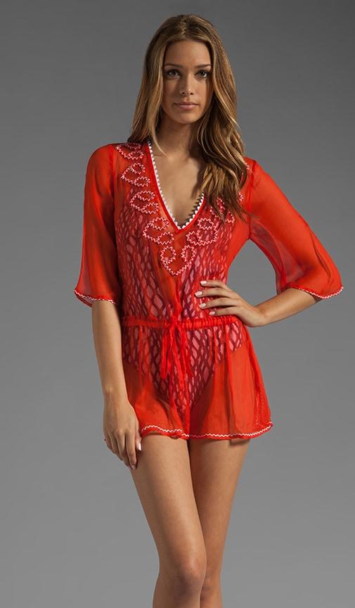 Embroidered Silk Artola Dress