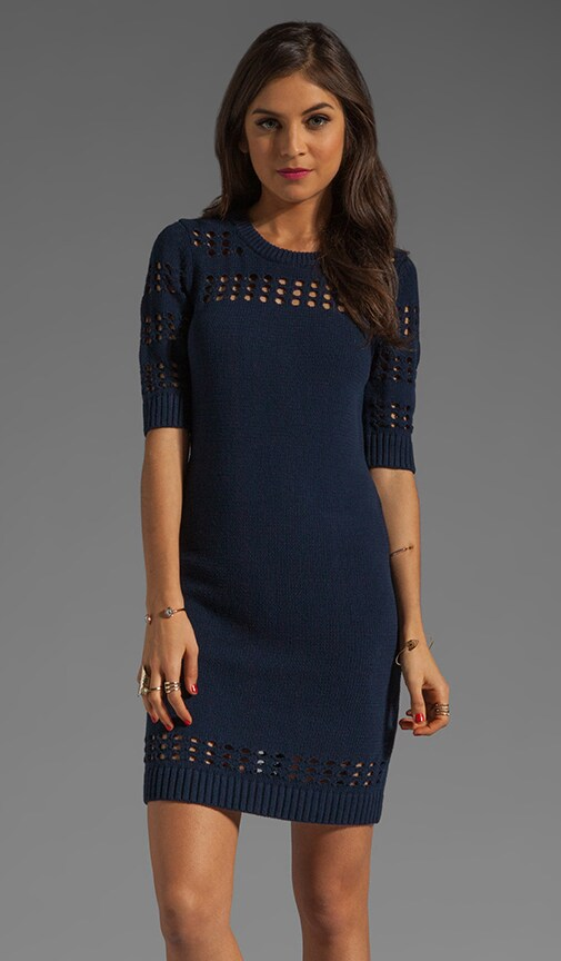Pointelle Stripe Dress