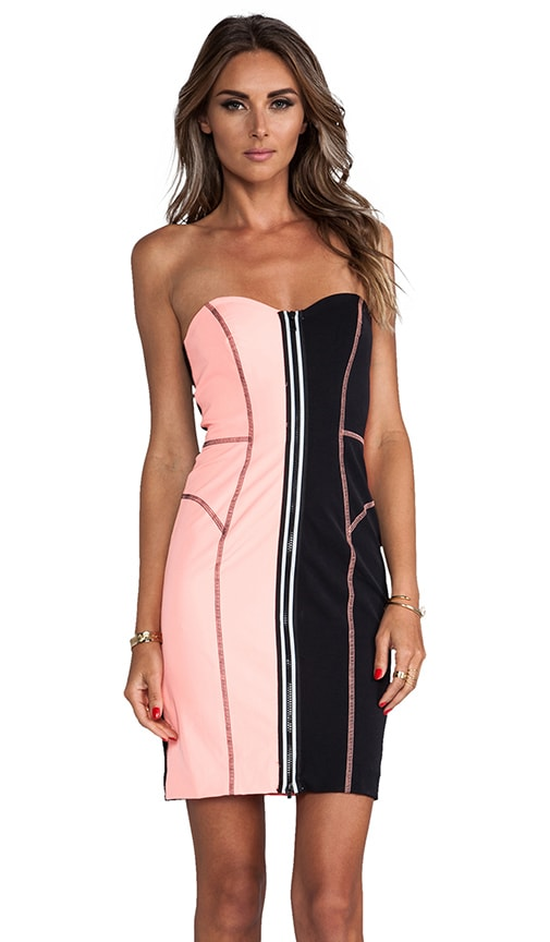 Italian Power Stretch Surfer Strapless Dress