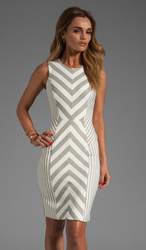 Fabulous Italian Stretch Stripes and Mini Stripes Tank Dress