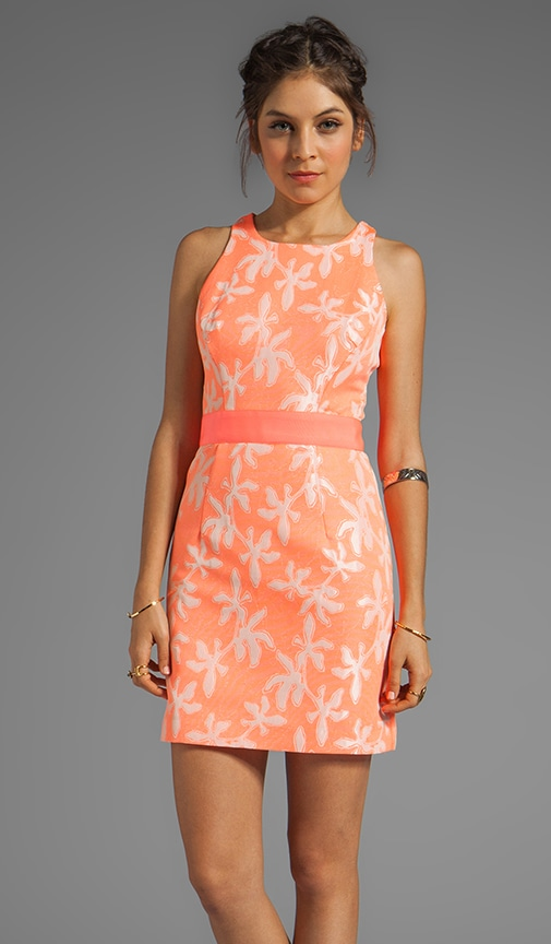 Neon Jacquard Sonya Sheath Dress