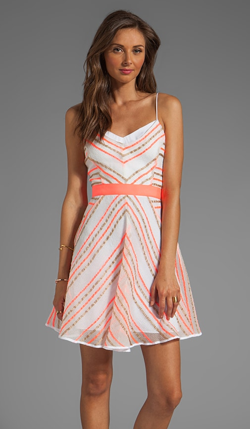 Neon Stripe Jacquard Sadie Double Layer Dress