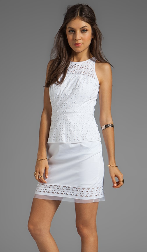 Laser Cut Mia Peplum Dress