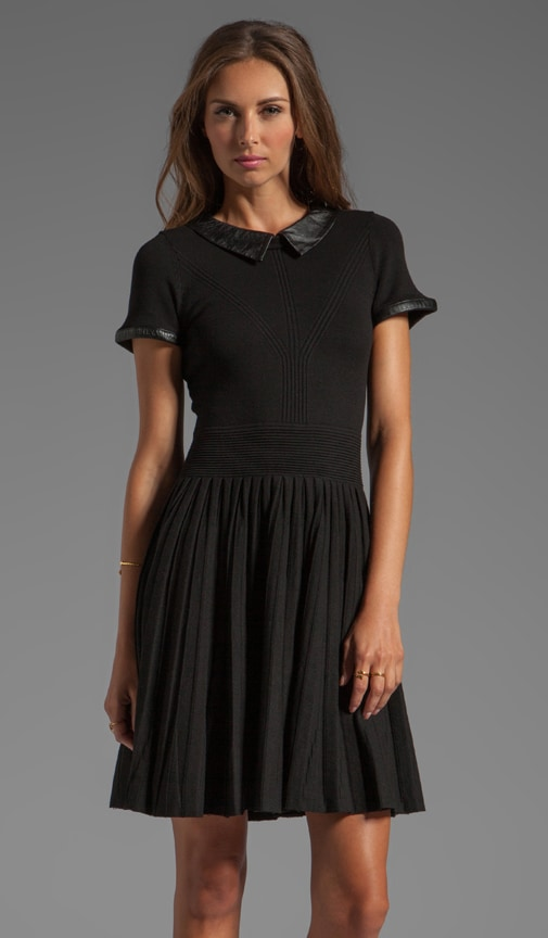 June Knits Leather Collar Josephine Dress