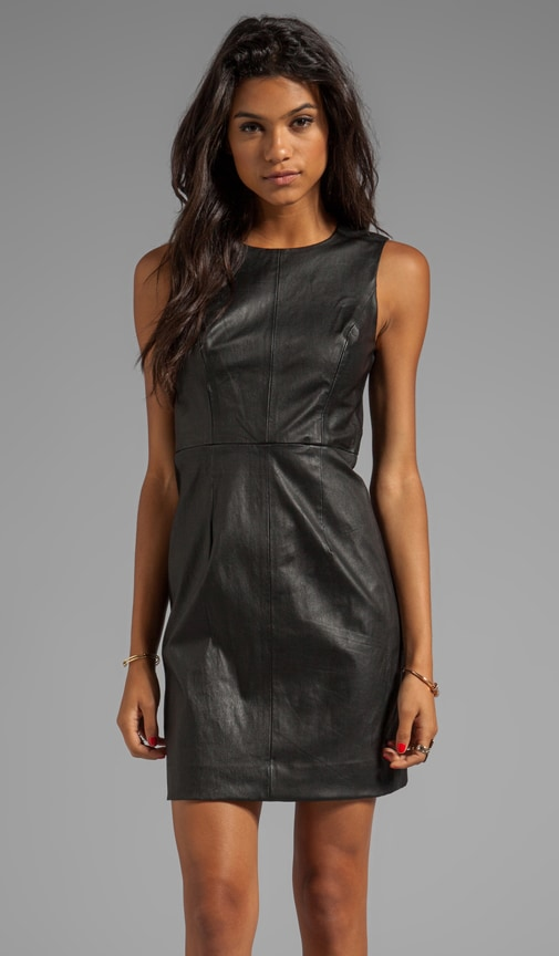 Stretch Super 100's Zipper Sheath Dress
