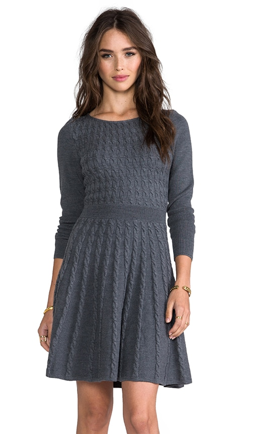 Cable Fit and Flare Sweater Dress