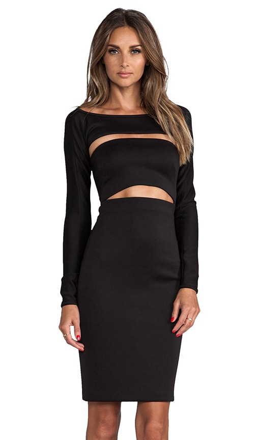 Cut-Out Shrug Dress