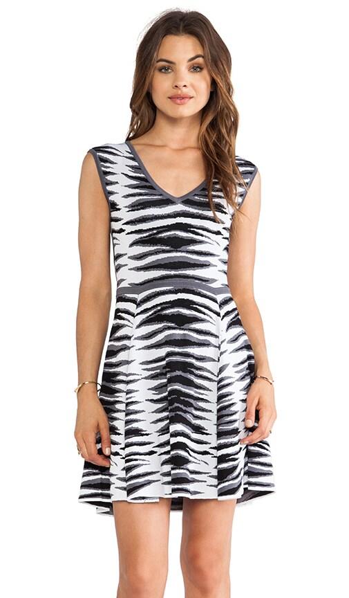 Ikat Jacquard Flare Dress