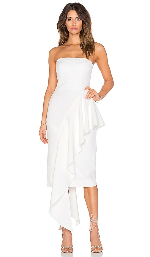 MILLY Cascade Dress in White