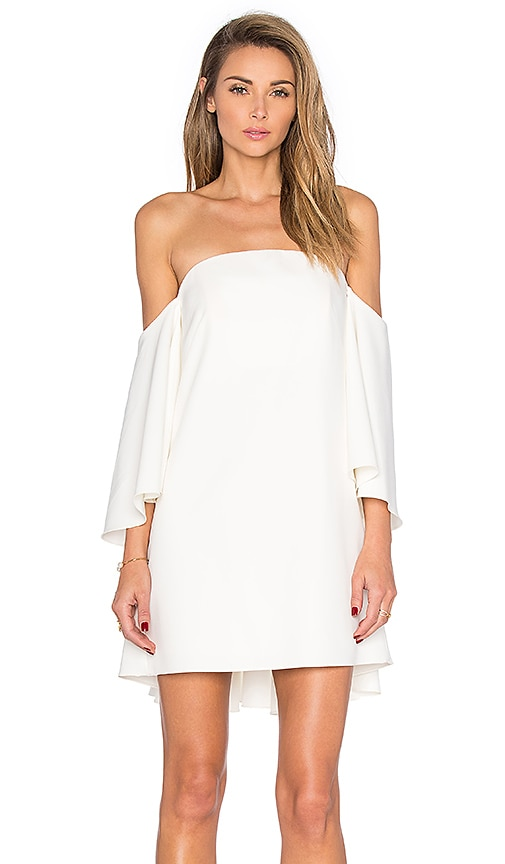 MILLY Mila Off the Shoulder Dress in White | REVOLVE