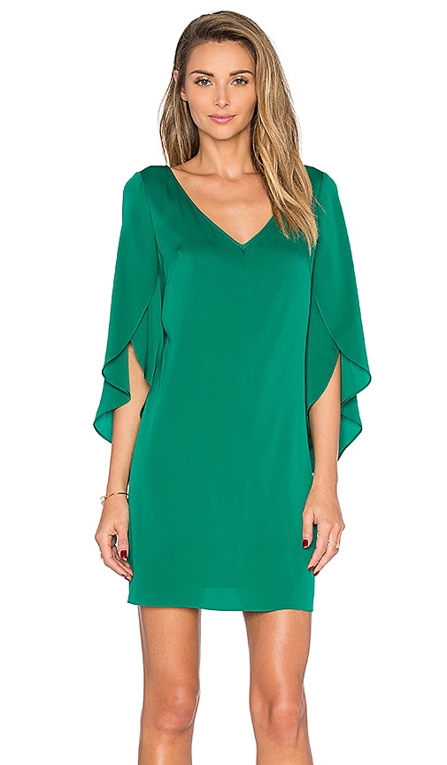 V Neck Butterfly Sleeve Dress