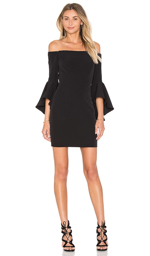 MILLY Cady Selena Mini Dress in Black