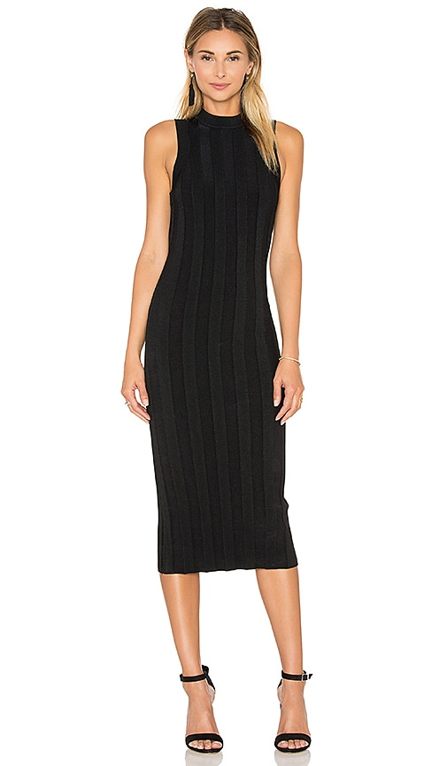 MILLY Bodycon Knit Sweater Dress in Black