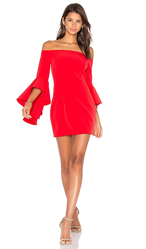 MILLY Selena Dress in Red