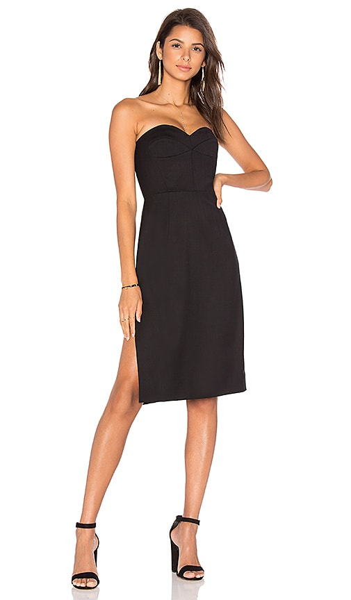 MILLY Gabardine Alix Dress in Black