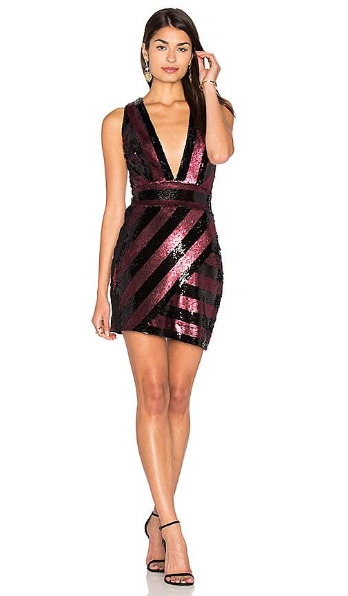 MILLY Pailette X Back Mini Dress in Black